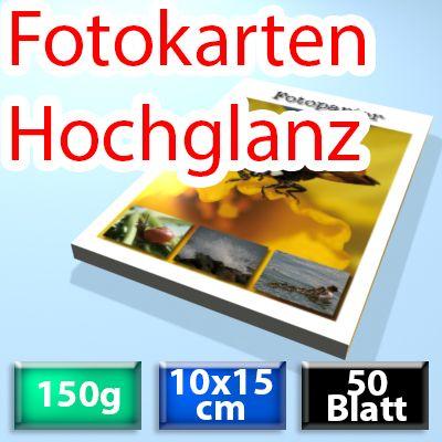 150g Foto-Karten 10*15cm, Glossy, 50 Blatt