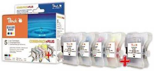 Peach Combi Pack Plus kompatibel zu LC-1100, 2 x bk, je 1 x c, m