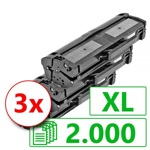 3 Alternativ-Toner XL, Rebuild für Samsung-Drucker, ersetzt MLT-D111L