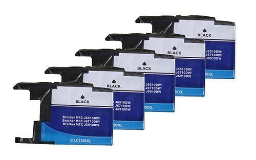 5 Schwarze Patronen, Alternativ zu LC-1280BK