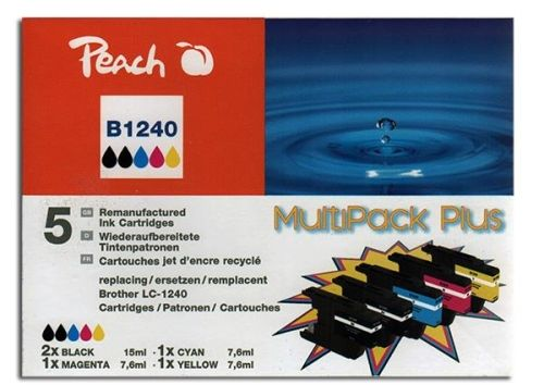 Druckerpatronen Peach Combi-Pack Plus, kompatibel zu LC1240