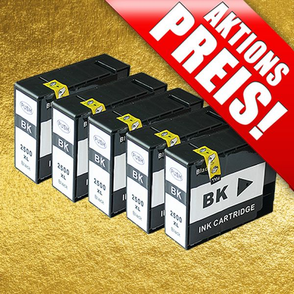 * Sparset: 5 Patronen für Canon CS2500-5-Chip
