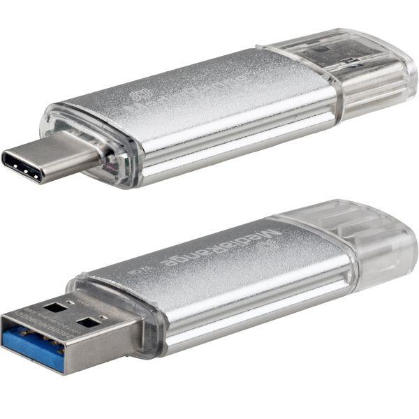 128 GByte USB-C Combo Flashstick, USB 3.0