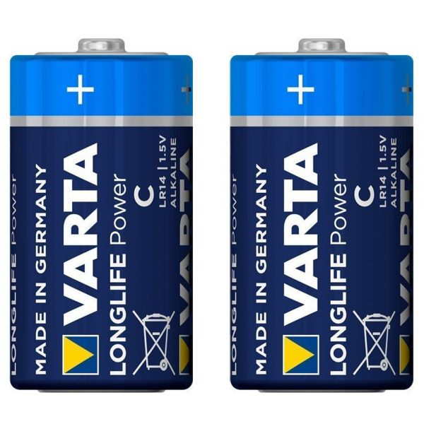 2 Stück Baby (C) 1,5V -Batterien, Varta Longlife Power