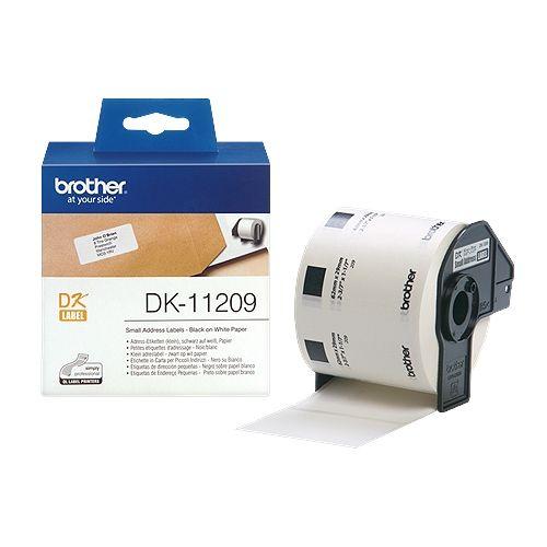 brother DK-11209, DK-Label, 28,9 mm x 62 mm, 800 St.