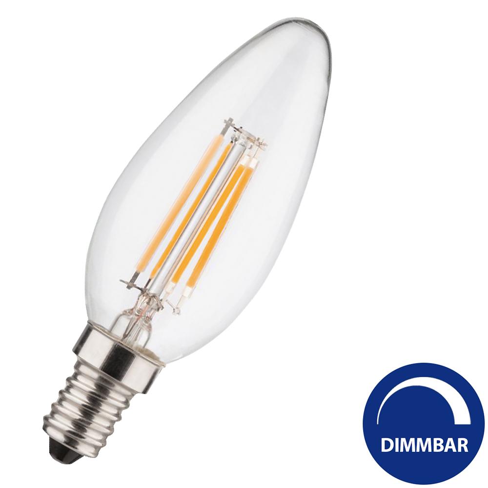 led kerze e14 4 w 320 lumen warmwei filament leds dimmbar. Black Bedroom Furniture Sets. Home Design Ideas