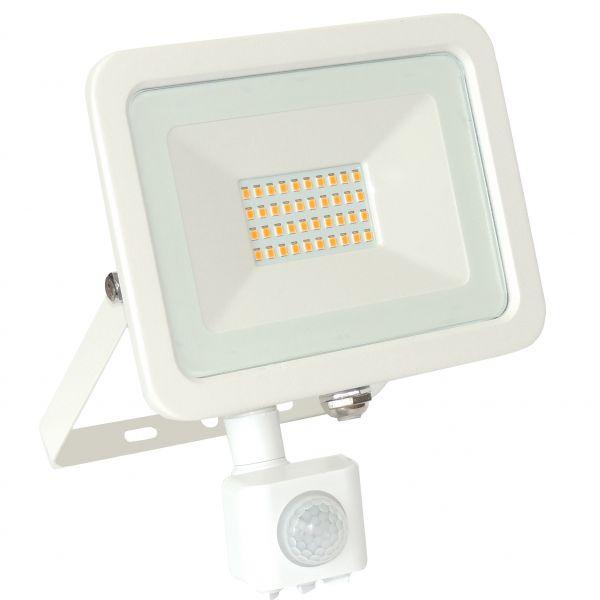 LED Fluter, 30W, 2600lm, warmweiß, weiß, Bewegungsmelder
