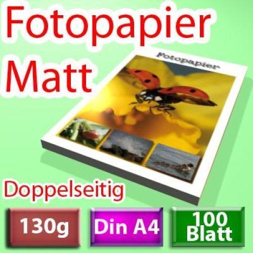 130g 2-seitig Foto-Papier, Inkjet Din A4, 100 Blatt