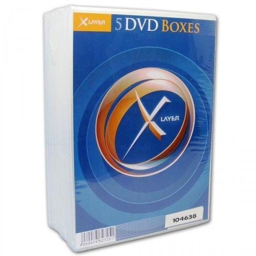 DVD-Hüllen, 5 Stück, doppelt, clear