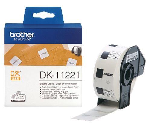 brother DK-11221, DK-Label, 23 mm x 23 mm, 1000 St.