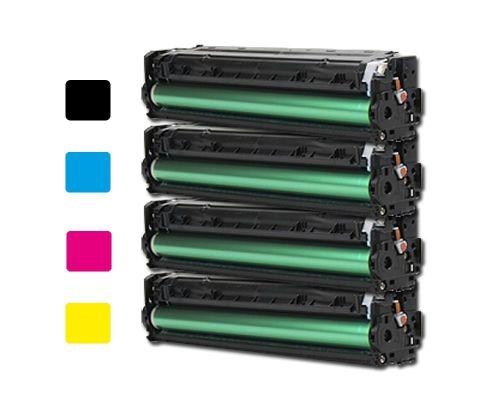 4 Toner XL alternativ zu HP CF210X, CF211A, CF212A, CF213A