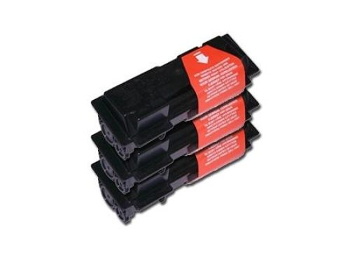Toner-Set: 3 x schwarz, alternativ zu Kyocera TK-18