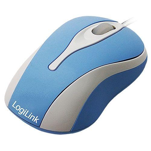 LogiLink USB-Mini-Maus mit LED, optisch, blau