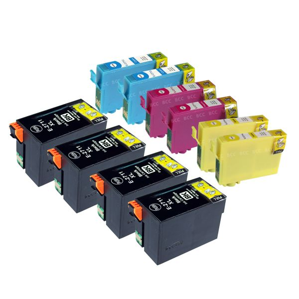 * 10 kompatible Patronen alternativ zu Epson T2711 - T2714
