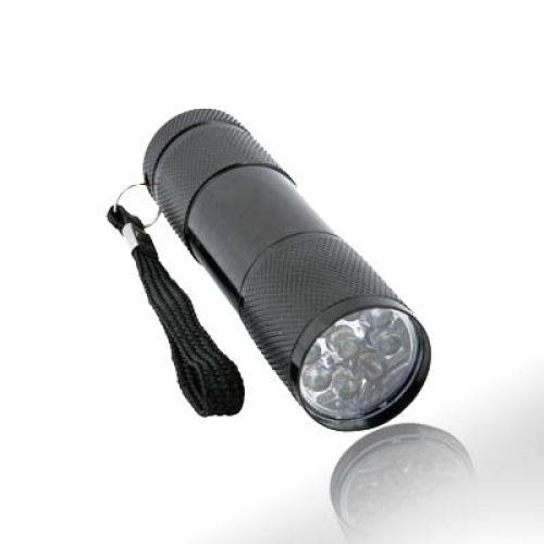 9-LED-Taschenlampe, Alu-Gehäuse