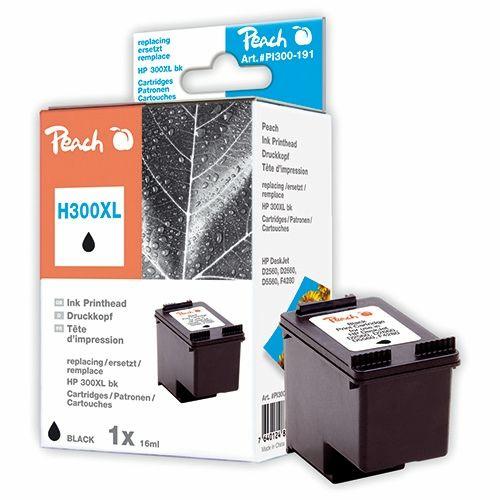 Peach Druckerpatrone PI300-191, kompatibel zu HP 300 XL schwarz