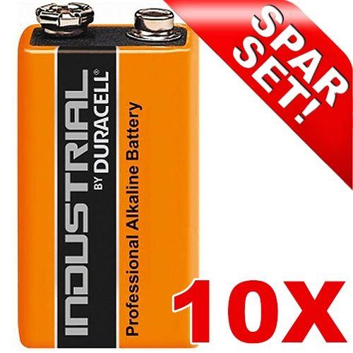 9V Block-Batterie, Duracell Industrial, 10 Stück