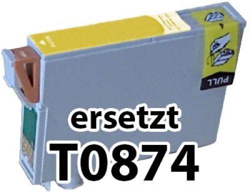 kompatible Druckerpatrone EKT0874 yellow (gelb)