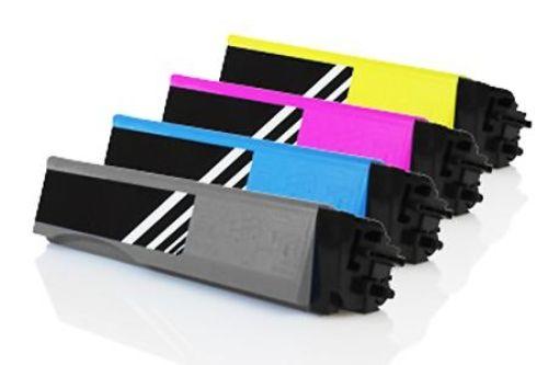 Spar-Set: 4 Toner, Rebuild für Kyocera-Drucker, ersetzt TK-540