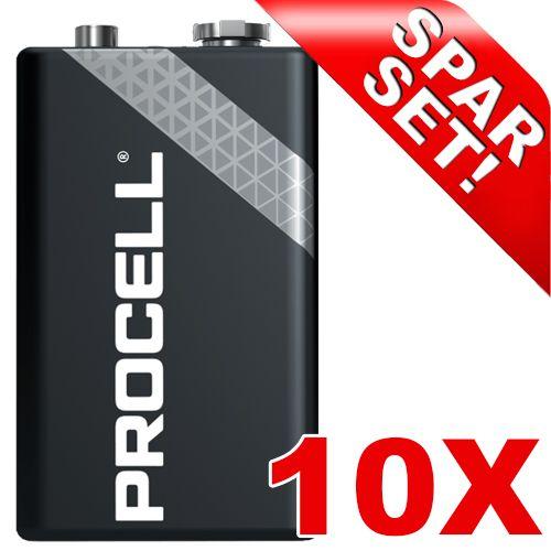 9V Block-Batterie, PROCELL, 10 Stück