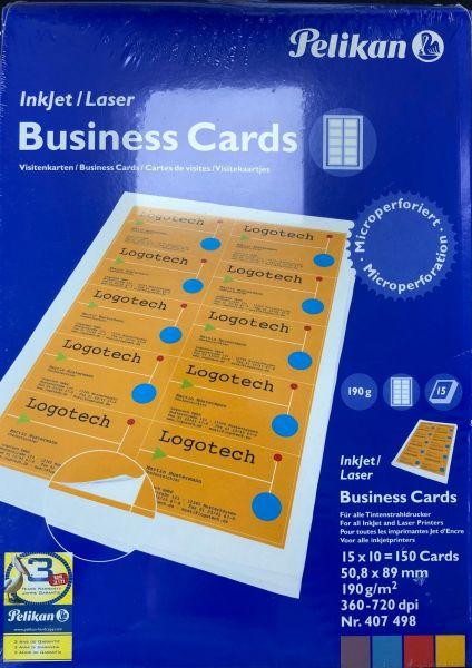 150 Visitenkarten microperforiert, 190g