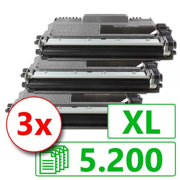 3 Alternativ-Toner XL, Rebuild für Brother-Drucker, ersetzt TN-2220