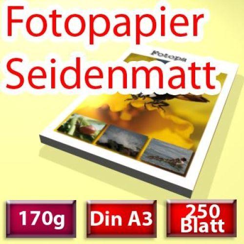 170g seidenmatt Papier Din A3, 250 Blatt
