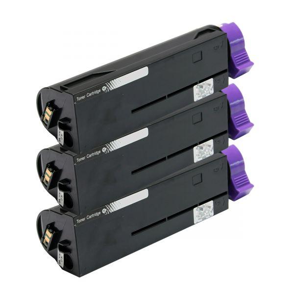 3 Toner alternativ zu Oki 45807102, schwarz