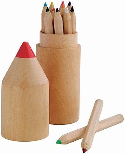 Holzbox mit 12 Stiften