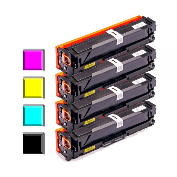 4 Alternativ-Toner kompatibel zu HP CC530, CC531, CC532, CC533