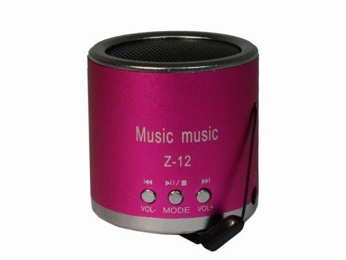 Tragbarer Mini-Lautsprecher/ Mini-MP3-Player, pink