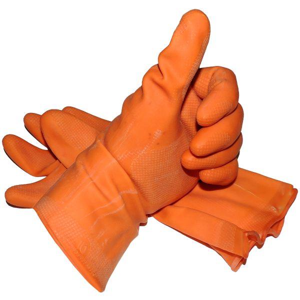Schutzhandschuhe, orange Größe 10, B-Ware