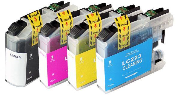 Cleaning-Set: 4 Reinigungspatronen kompatibel zu LC-223