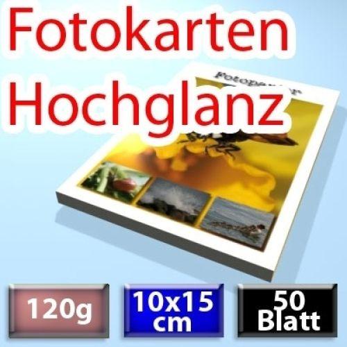 120g Foto-Karten 10*15cm, Glossy, 50 Blatt