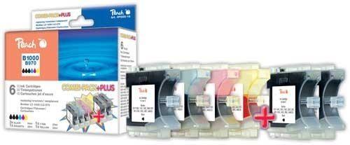 Peach Combi Pack Plus, XL-Füllung, kompatibel zu LC-1000, LC-970