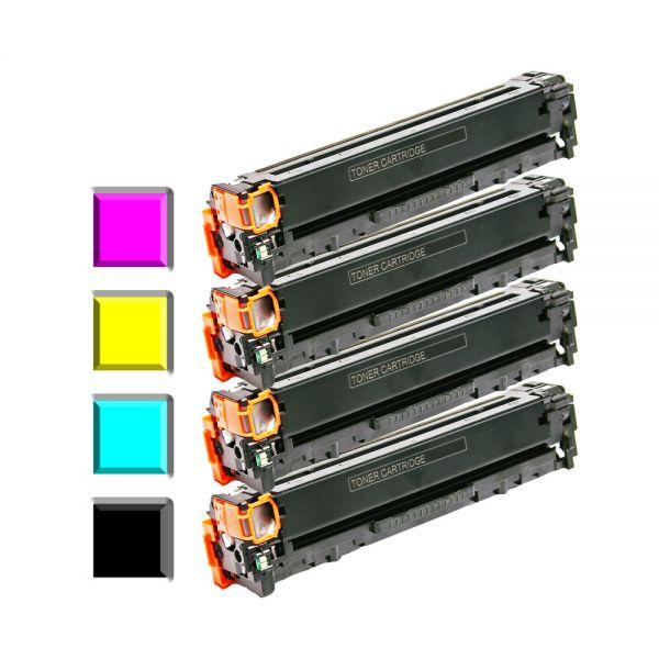 4 Alternativ-Toner für HP Kompatibel zu CF210, CF211, CF212, CF213
