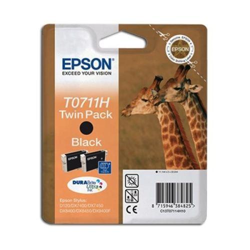 2 Originalpatronen Epson T0711H, schwarz