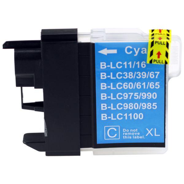 Druckpatrone XXL für Brother, Typ BK980/1100XLC, cyan