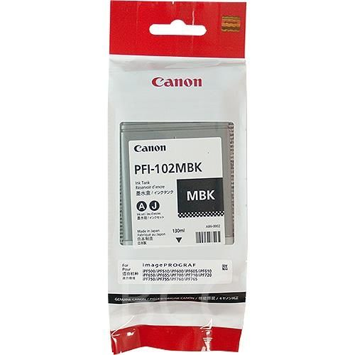 Original Canon Tintenpatrone PFI-102MBK