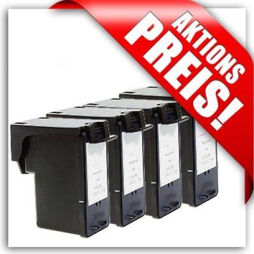 Aktuelles Sparset für Lexmark: 3 x schwarz + 1 x Farbe, LS43/44-