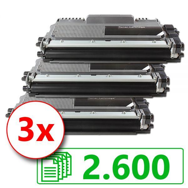 3 Alternativ-Toner, Rebuild für Brother-Drucker, ersetzt TN-2220