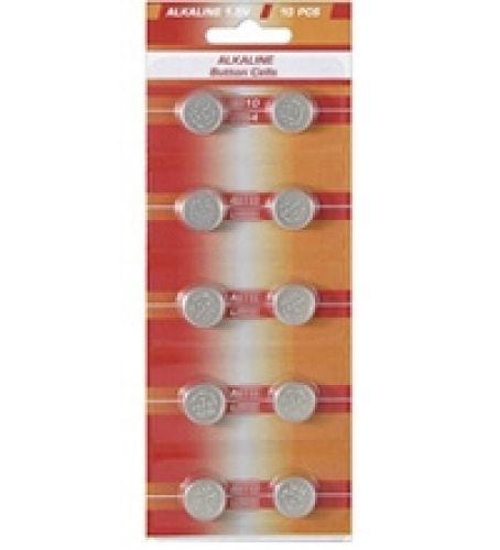 10 Knopfzellen AG3/ LR41 Alkali-Mangan