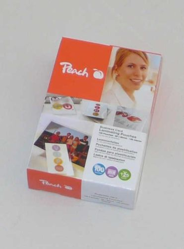 Peach Laminierfolien Visitenkarten, 125 mic, 100 Stück; PP525-08