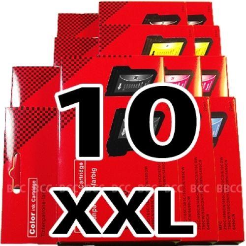 * Sparset: 10 XXL-Patronen für Brother BS980/1100-10-XXL