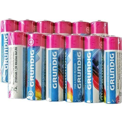 12 St. AA / Mignon Alkaline-Batterien, Grundig