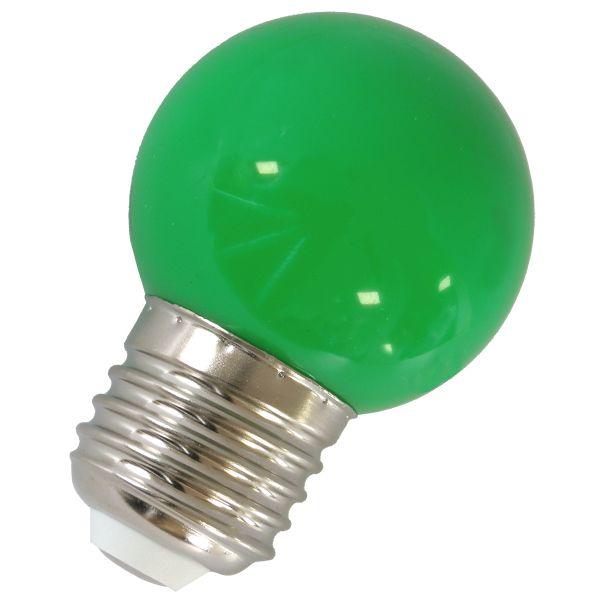 LED Birne E27, 1W, Kugellampe Deko-Licht grün