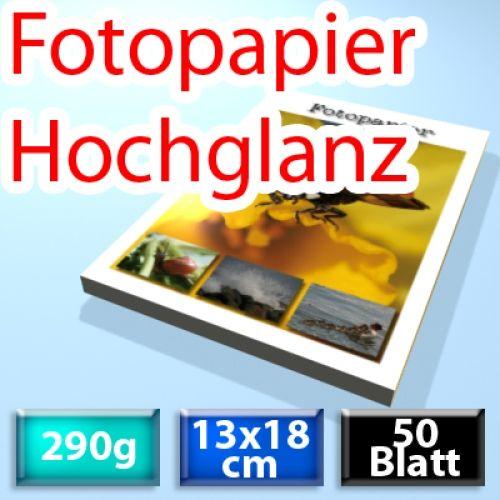 290g Foto-Karten 13*18cm, Glossy, 50 Blatt