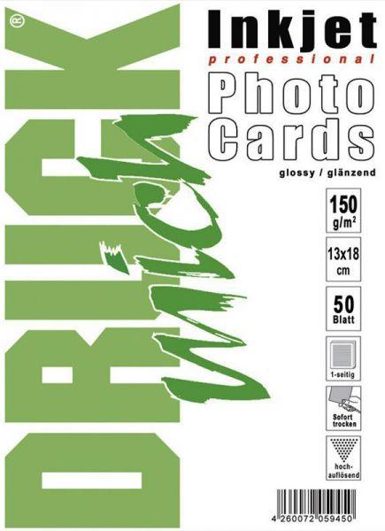 150g glänzend/glossy Foto-Karten 13*18cm, 50 Blatt